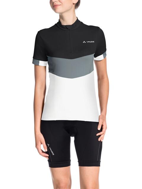 VAUDE Advanced III Kortærmet cykeltrøje Damer hvid/sort
